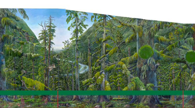 Hoh Rainforest Canopy mural scanned